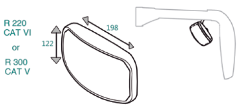 Dimensions Auxiliary mirror 346 (Optional)