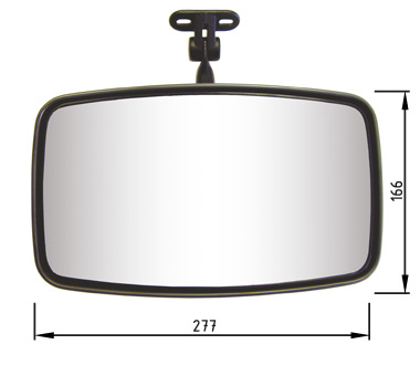 Dimensions Interior Mirror 327