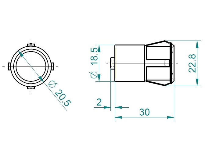Dimensions Mod. C