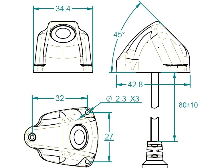 Dimensions Mod. C-45H Arcol