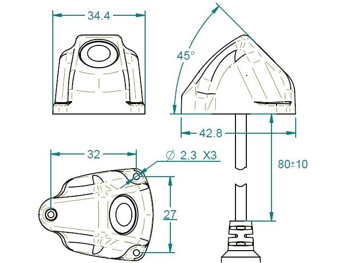 Dimensions Mod. C-45V Arcol