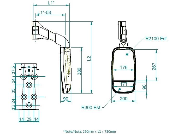 Dimensions Mod. 314-2