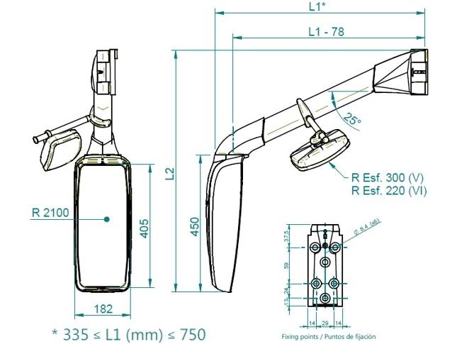 Dimensions Mod. 330