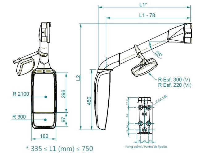 Dimensions Mod. 330-2